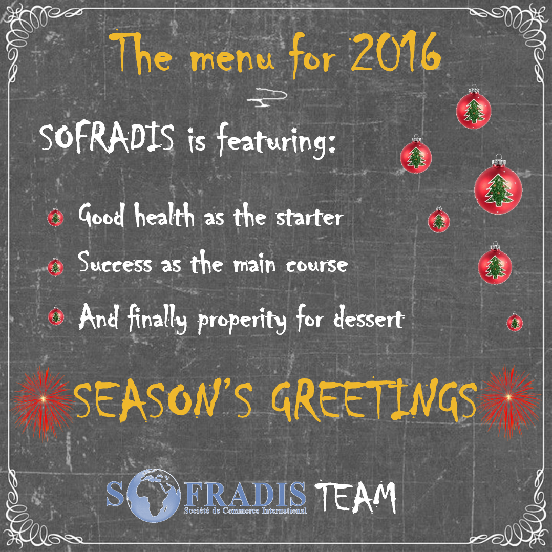 Sofradis Best Wishes